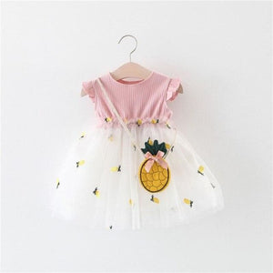 Load image into Gallery viewer, Baby Girls Clothes Summer Girl Dress Mesh lovely Dresses Cotton Pineapple Sleeveless - My Web Store Shopping