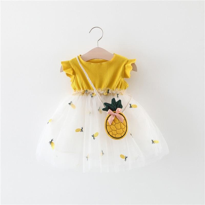 Baby Girls Clothes Summer Girl Dress Mesh lovely Dresses Cotton Pineapple Sleeveless - My Web Store Shopping