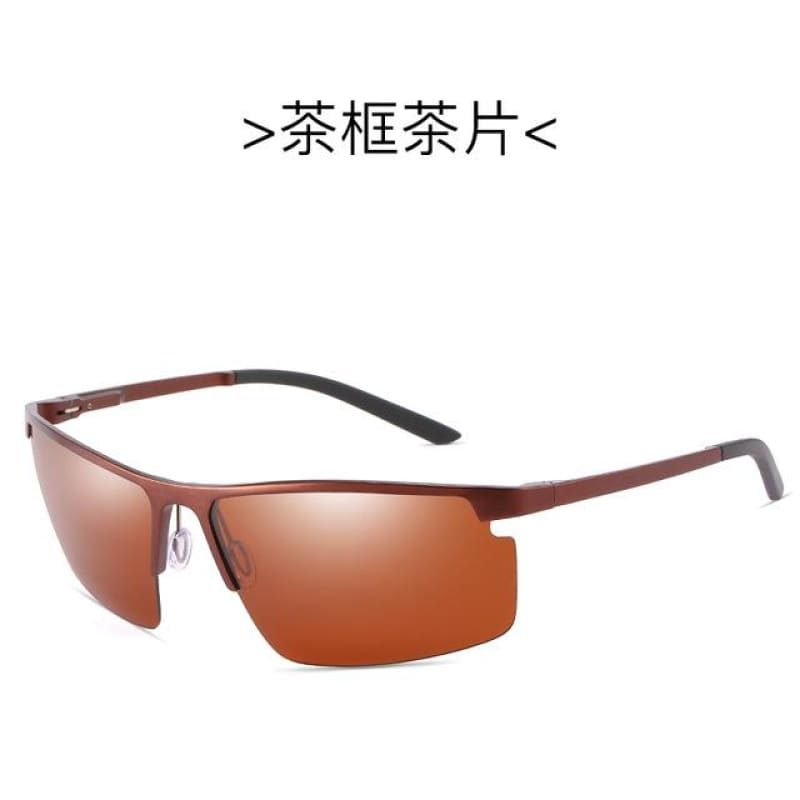 Load image into Gallery viewer, Rectangle Men Polarized Sunglases Black/Brown/Siliver  Color Metal Frame UV400 Male Glasses - My Web Store Shopping