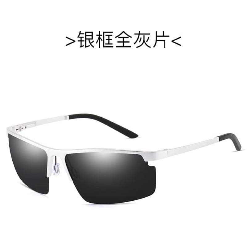 Rectangle Men Polarized Sunglases Black/Brown/Siliver  Color Metal Frame UV400 Male Glasses - My Web Store Shopping