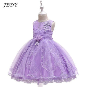 Summer 4 To 14 Years Baby Girls Voile Party Costume Dress Kids Robe Wedding Princess Dresses - My Web Store Shopping