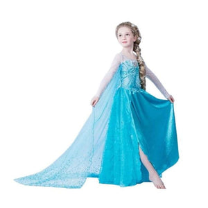 children anna elsa dress kids dresses for girls 10 years elza costume christmas rapunzel dress jurk infant snow white queen - My Web Store Shopping