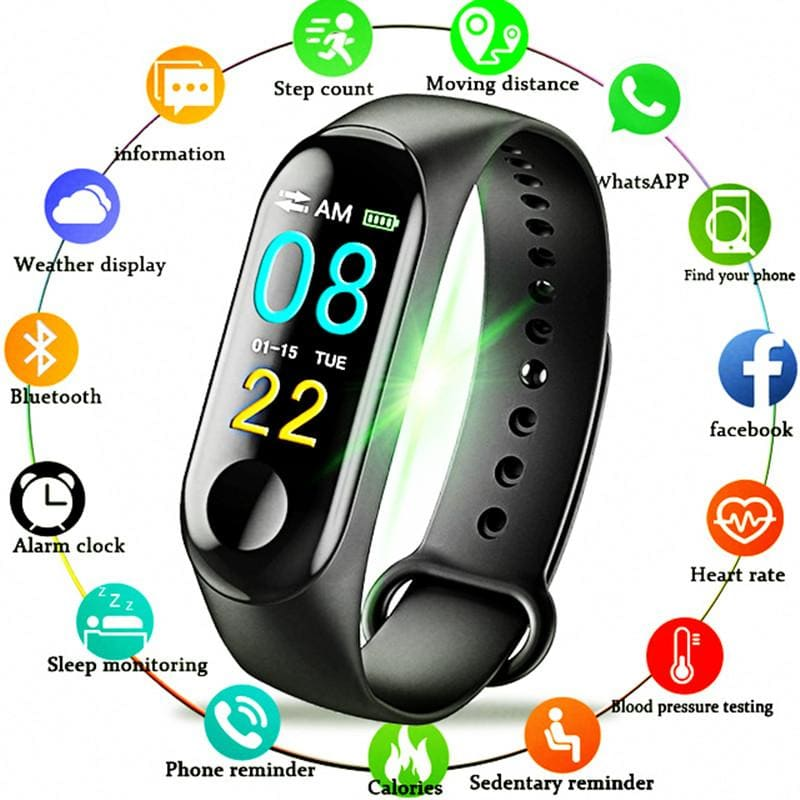 Color-screen IP67 Waterproof Fitness Bracelet blood pressure Oxygen Monitor sports Heart Rate Sport - My Web Store Shopping