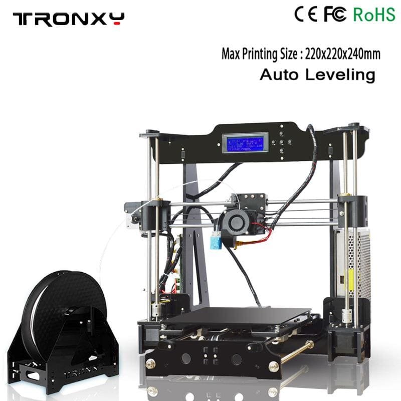 Best Tronxy P802M 3D Printer DIY full kits Direct Extruder MK3 heatbed 3D Printing 3DCSTAR P802-MHS - My Web Store Shopping