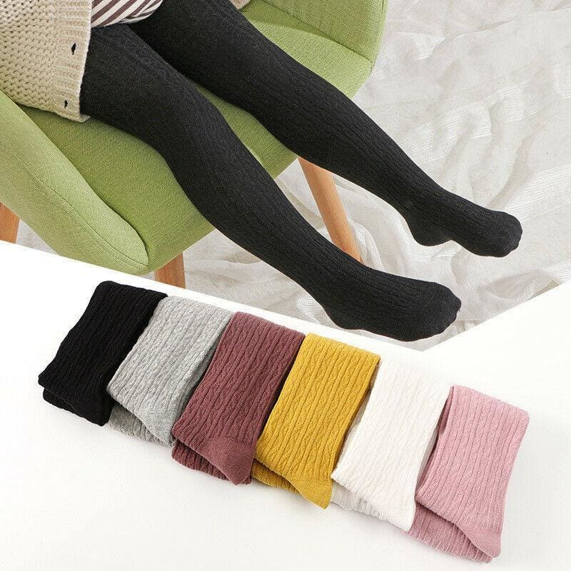 2020 Hot Baby Autumn Winter Solid Candy Color Tights For Toddler Kid Baby Girl Ribbed Stockings Cotton Warm Pantyhose Tight 0-6Y - My Web Store Shopping