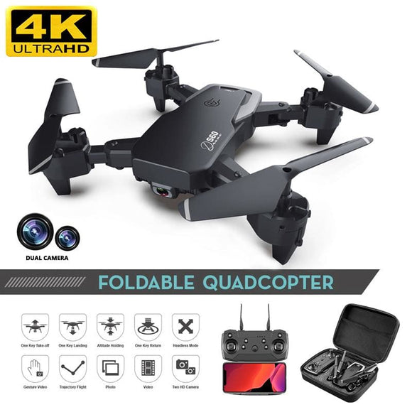 Drone 4k HD Wide Angle Camera 1080P WiFi fpv Drone Dual Camera Quadcopter Height Keep Drone Camera - My Web Store Shopping
