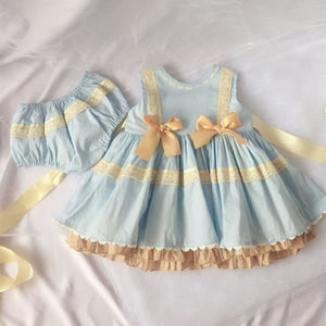 Load image into Gallery viewer, Children's Clothing Kids Dresses for Girls Lace Embroidery Princess Birthday Dress - My Web Store Shopping