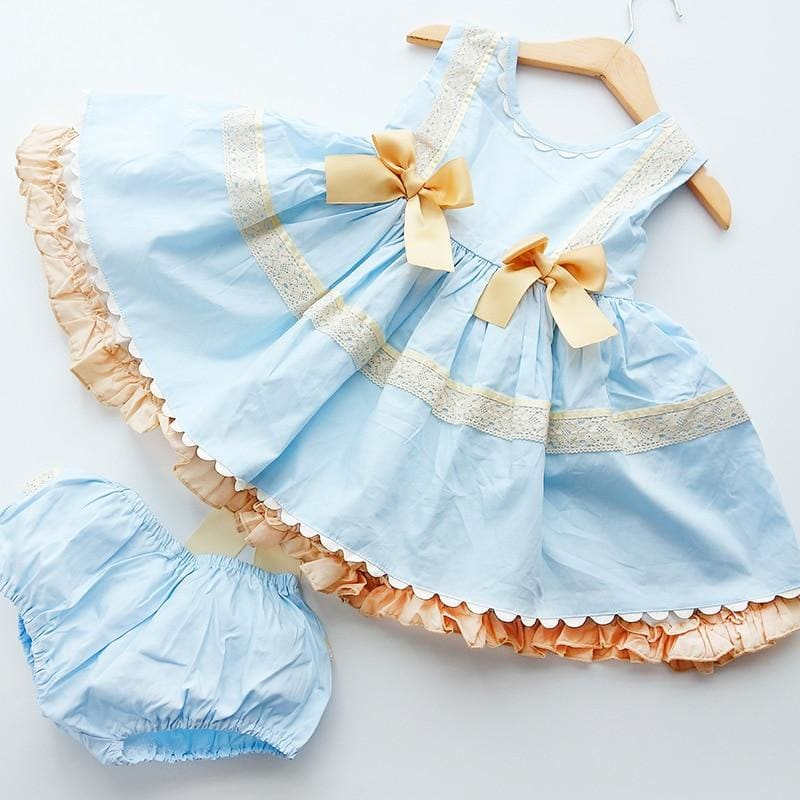 Children's Clothing Kids Dresses for Girls Lace Embroidery Princess Birthday Dress - My Web Store Shopping