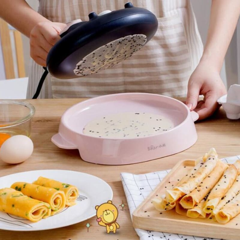 220V spring roll Machine Electric Crepe Maker Pancake Machine baking pan Pie Cake maker Nonstick - My Web Store Shopping
