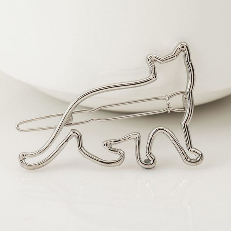 Metal hollow KT cat hairpin alloy frog clip hairpin clip hair accessories - My Web Store Shopping