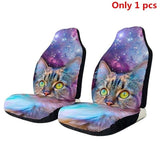 2pcs Car Seat Cover 3D Skull Printing Universal Car Front Seat Protector Seat Cushion Full Cover For - My Web Store Shopping