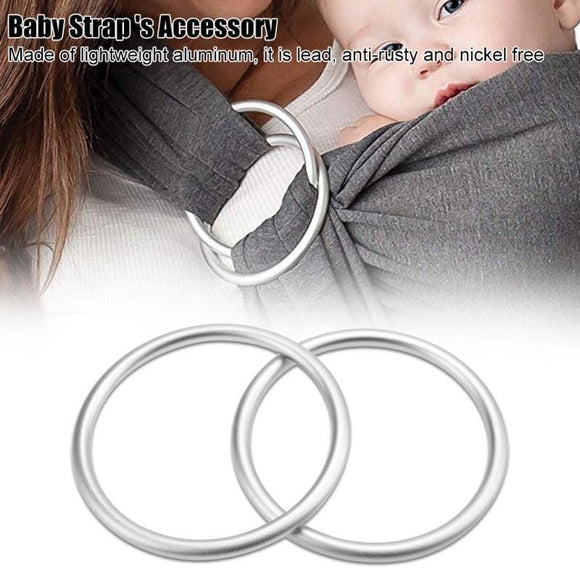 2pcs/lot Baby Sling Rings Aluminum Adjustable Ring High Quality Baby Carrier Accessories New Arrival for Mommy Newborn Infant - My Web Store Shopping