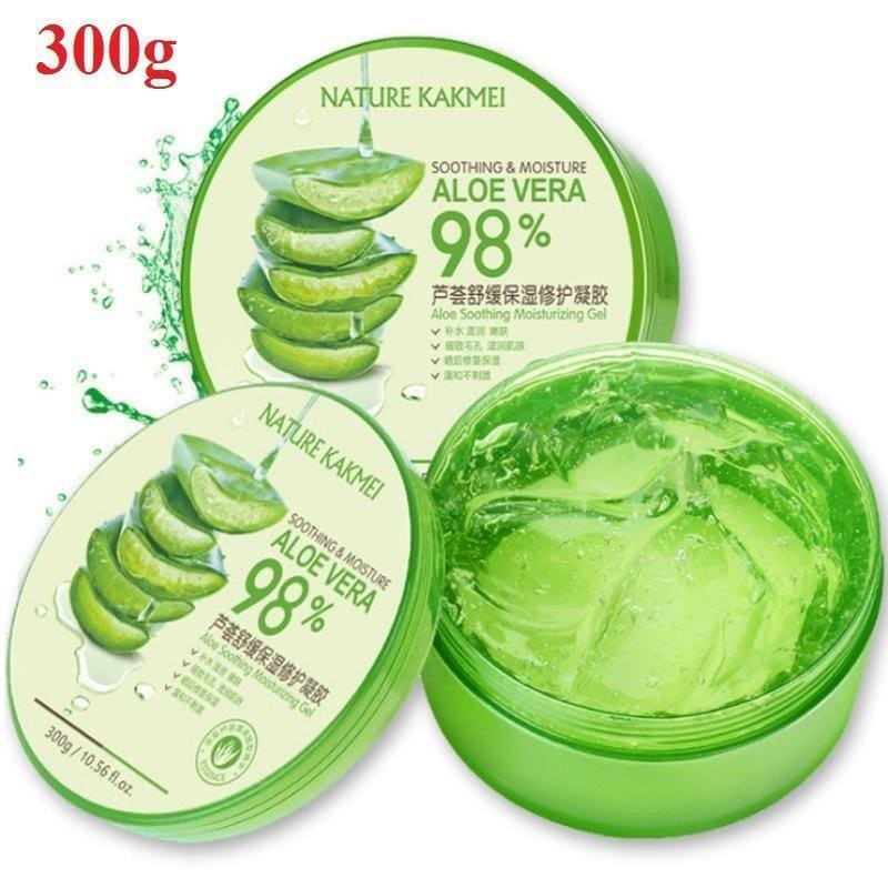 300g Natural Aloe Vera Smooth Gel Acne Face Moisturizing Anti-sensitive Sunscreen Aloe Vera After Sun Repair Day Cream Skin Care - My Web Store Shopping