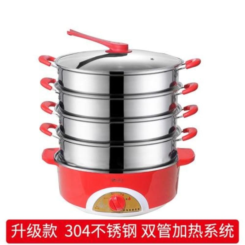 Load image into Gallery viewer, 304 stainless steel instant pot slow cooker food steamer pot food warmer electric steamer food - My Web Store Shopping
