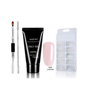 Load image into Gallery viewer, 30ml 4pcs Acrylic Poly Gel Set Extend Fast UV Builder Gel Slip Solution Nail Form Nail Art Brush - My Web Store Shopping
