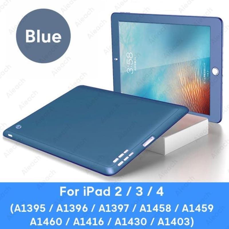 Load image into Gallery viewer, 360 Full Cover Case For iPad 2 3 4 Case With Tempered Glass Ultra Thin Soft Silicone Shockproof - My Web Store Shopping