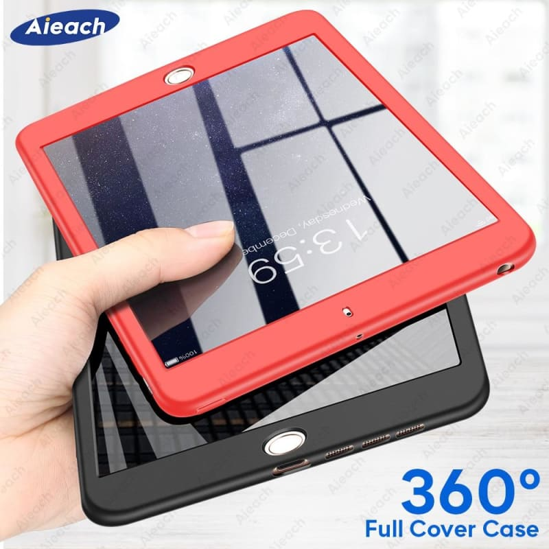 360 Full Cover Case For iPad 2 3 4 Case With Tempered Glass Ultra Thin Soft Silicone Shockproof - My Web Store Shopping