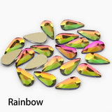 3D Nail Art Rhinestones 30/100pcs 10 Color Gems Flatback Stones For Nail art DIY Decorations - My Web Store Shopping