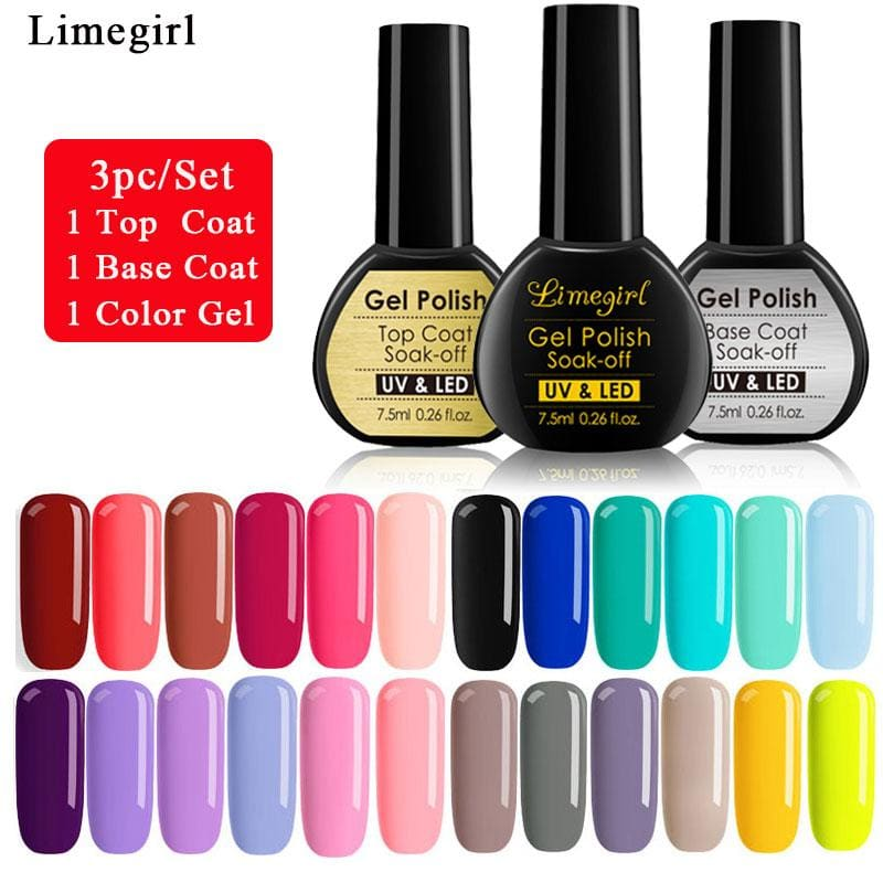 3pc/set Gel Nail Polish Set For Manicure All for Varnish Nail Extension Kit DIY Nails Art Design - My Web Store Shopping