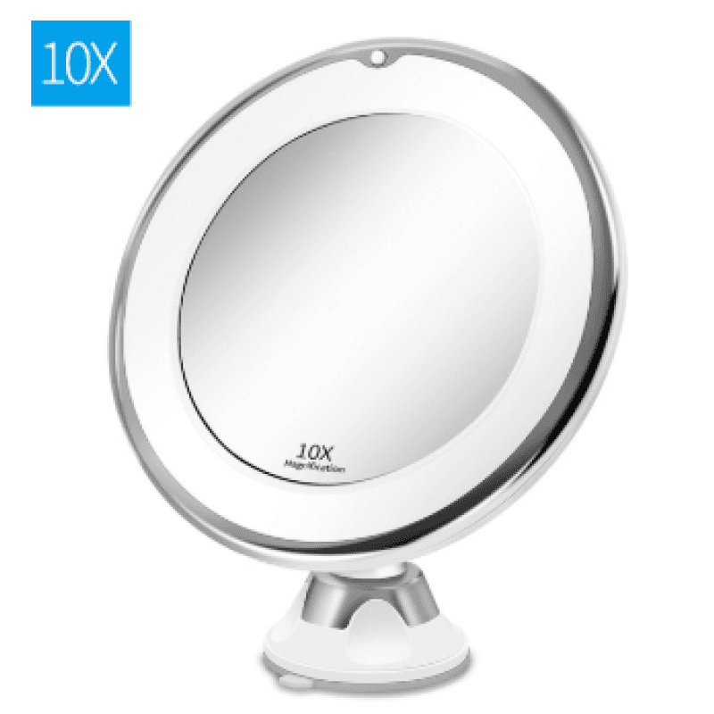 360 Swivel 10x Magnifying Bright LED Lighted Makeup Mirror - My Web Store Shopping