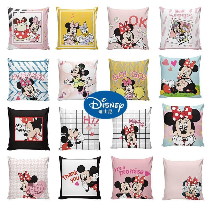 45x45cm Disney Cartoon Mickey Minnie Mouse Princess Decorative/nap Pillow Cases Cover Children 1Pcs - My Web Store Shopping