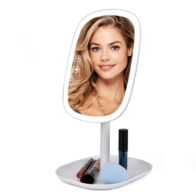 47 LED Lights 360 Rotating Desktop Mirror Touch Screen Makeup Mirror Professional Vanity Mirror - My Web Store Shopping