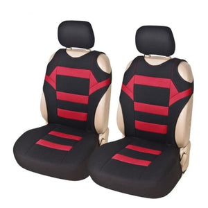 4pcs/set 2 Pieces Front Car Seat Covers With 2pcs Headrest Covers Mesh Sponge T Shirt Design Seat - My Web Store Shopping