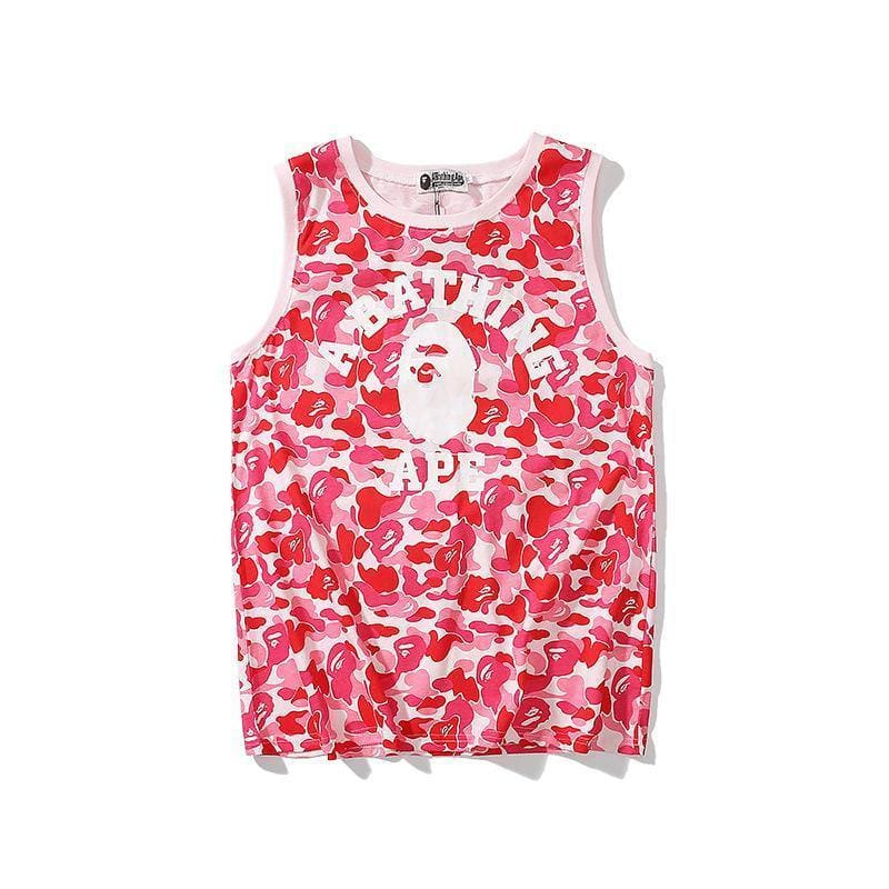 Camouflage cartoon printed casual vest - My Web Store Shopping