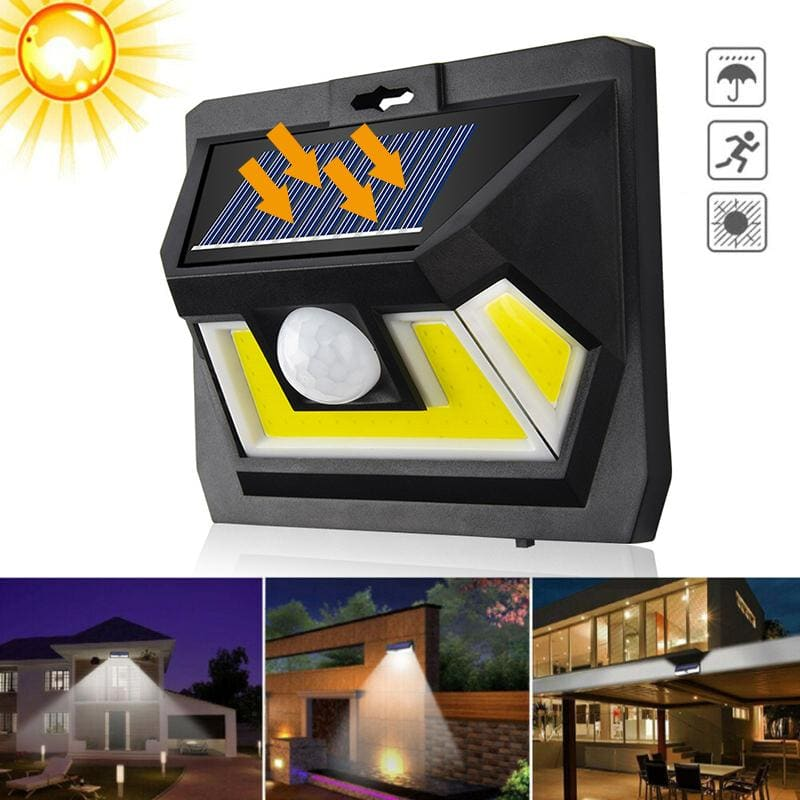 54 COB LED Solar Light Outdoor Solar Lamps PIR Motion Sensor Wall Lights Waterproof Solar Powered - My Web Store Shopping