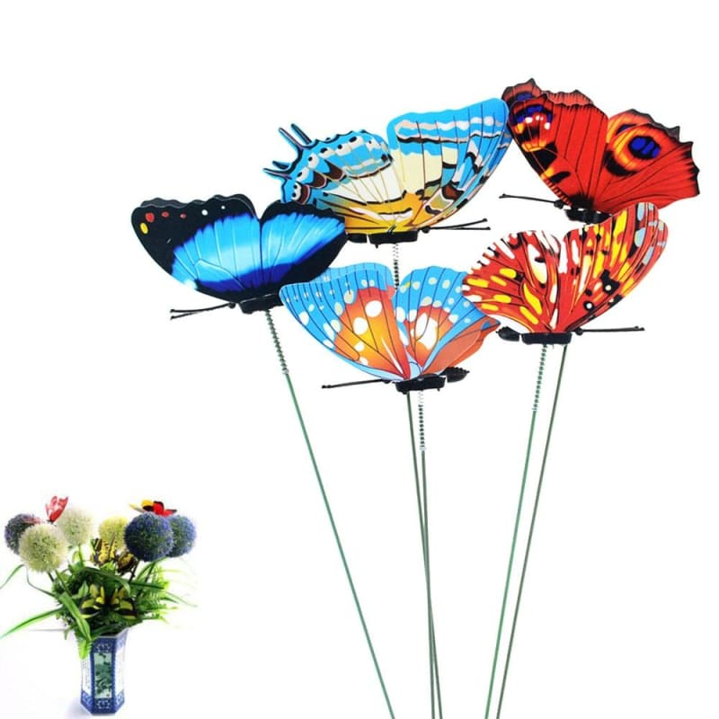 Butterflies Garden Yard Planter Colorful Whimsical Butterfly Stakes Outdoor Decor - My Web Store Shopping