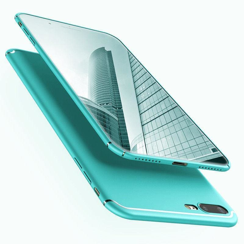 Mint Green Luxury Matte Ultra Thin Fitted Case Protection Phone Cases Cover For iPhone X 6S 7 8 - My Web Store Shopping
