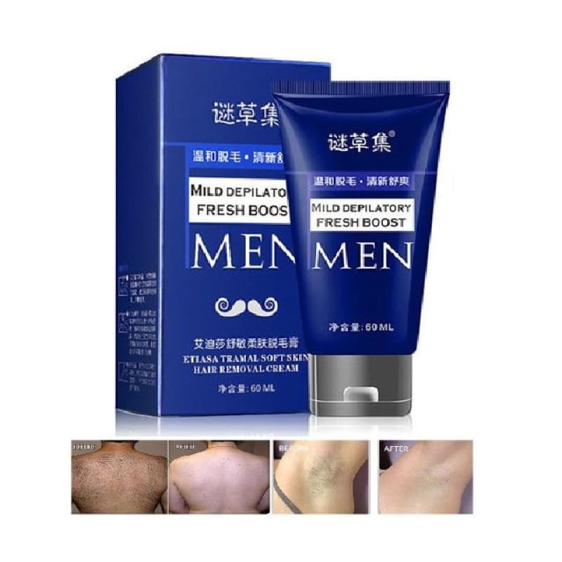60g Organic Depilatory Cream Natural Plant Depil Hair Removing Cream for Women and Men Hair Removal - My Web Store Shopping