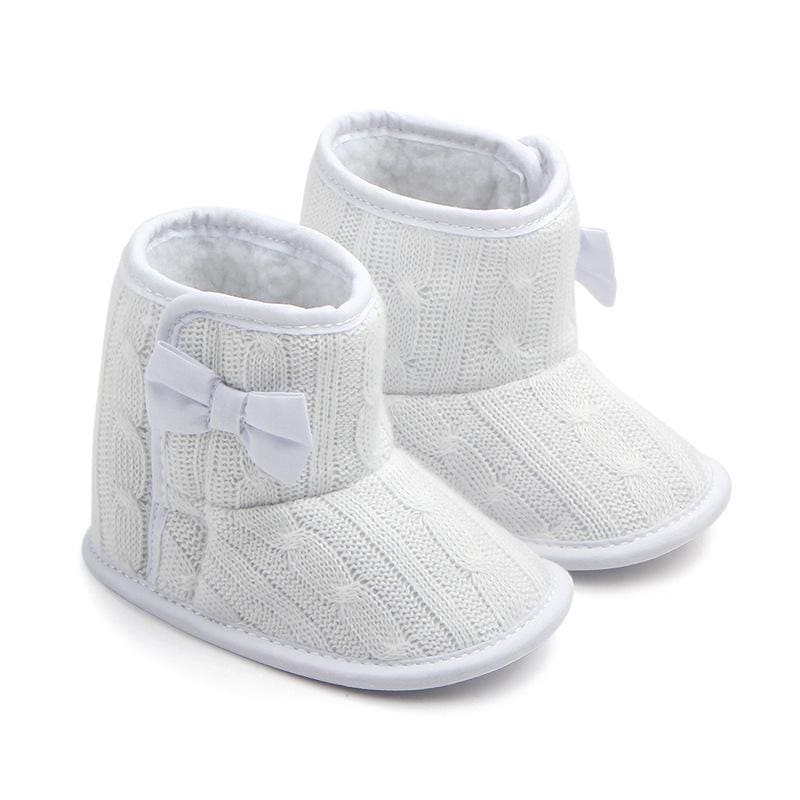 Manufacturers selling Wool Knitted Winter new bow shoes baby toddler shoes shoes boots 1646 - My Web Store Shopping