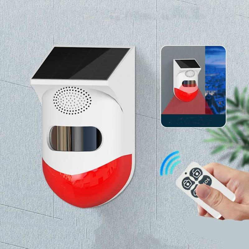 Human Body Infrared Sensing Remote Control Solar Alarm - My Web Store Shopping