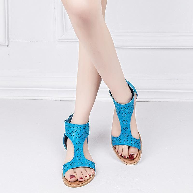 Beach flat sandals zipper sandals casual sandals - My Web Store Shopping