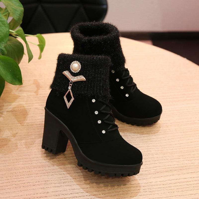 Women's Martin boots with wool and cashmere - My Web Store Shopping