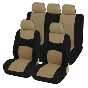 Flat Cloth Car Seat Cover ( Detachable Headrests and Solid Bench) Universal - My Web Store Shopping