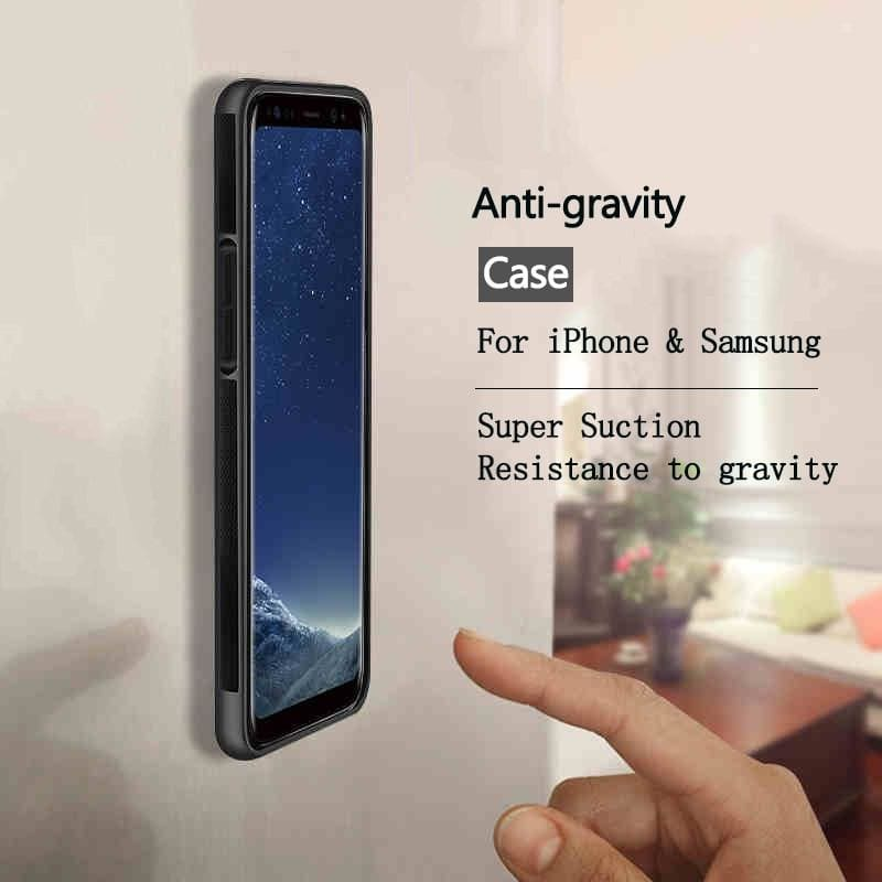 Anti Gravity Case For iPhone XS Max X 8 7 6 6S Plus 5S Adsorbable Cover For Samsung Galaxy S8 S9 S10 - My Web Store Shopping
