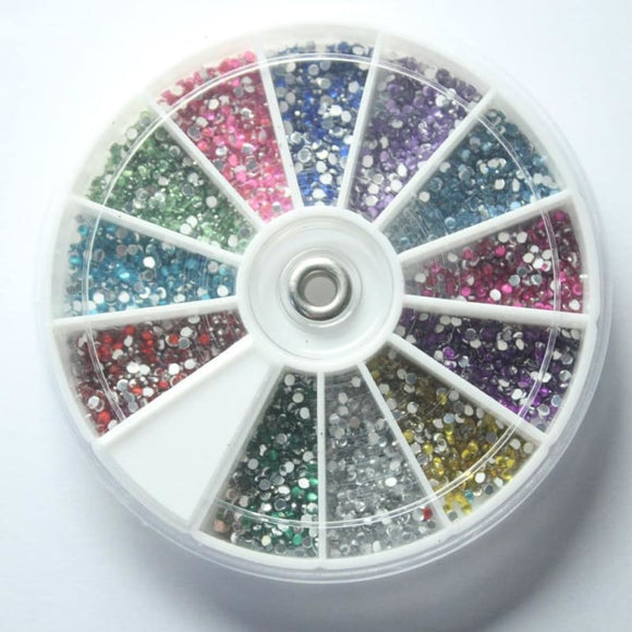 Artificial Diamond for Nail Design Nail Art Foil Stickers Transfer Decal Tips Manicure Rhinestones