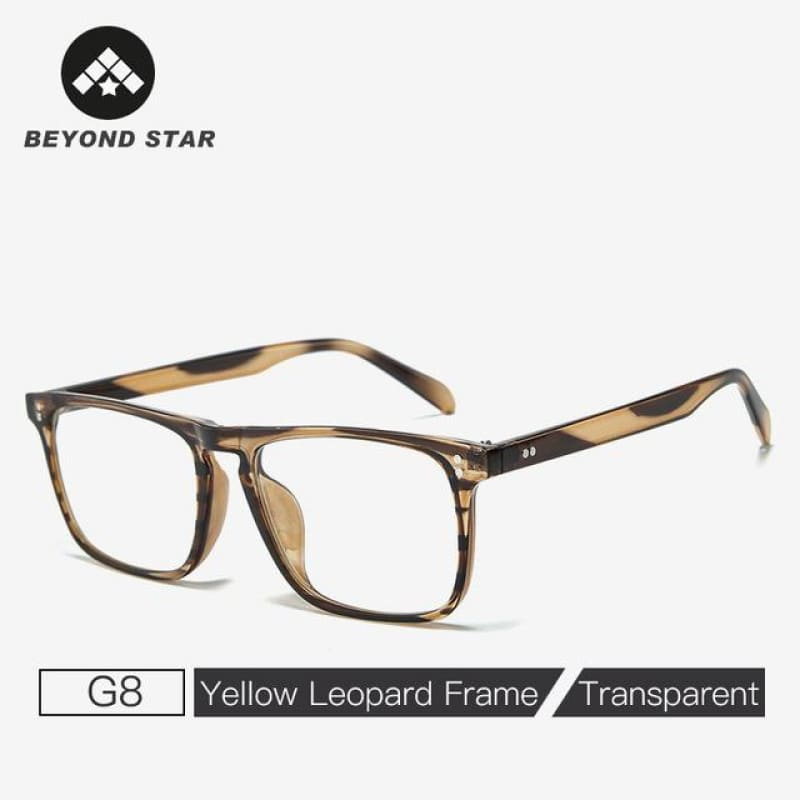 Load image into Gallery viewer, Iron Man Tony Stark Square  For Men Style Leopard Transparent Lens Sunglass Women Luxury - My Web Store Shopping