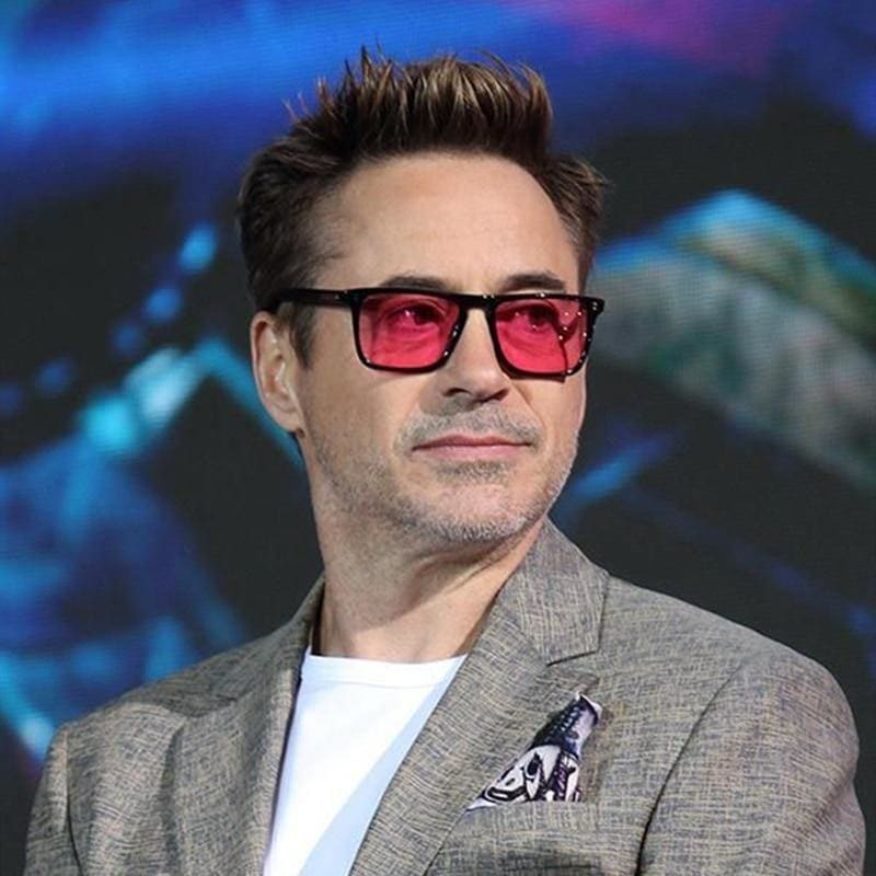 Iron Man Tony Stark Square  For Men Style Leopard Transparent Lens Sunglass Women Luxury - My Web Store Shopping