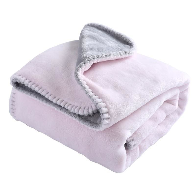 Baby Blanket New Thicken Double Layer Coral Velvet Infant Swaddle Bebe Envelope Wrap Solid Thermal - My Web Store Shopping