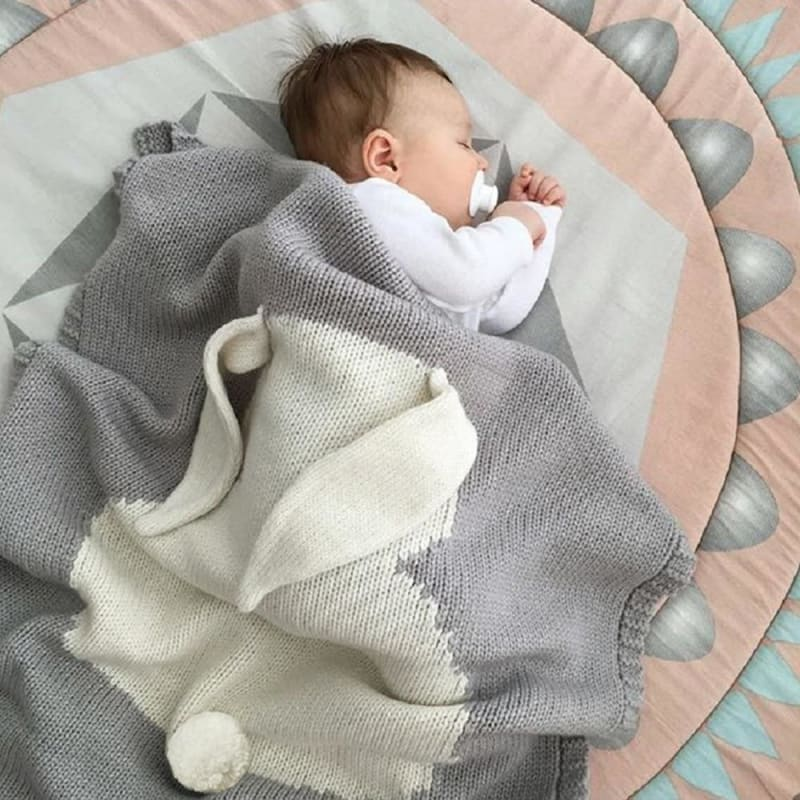 Baby Blankets Newborn Swaddle Baby Wrap knitted Blanket For Kid Rabbit Cartoon Plaid Infant Toddler - My Web Store Shopping
