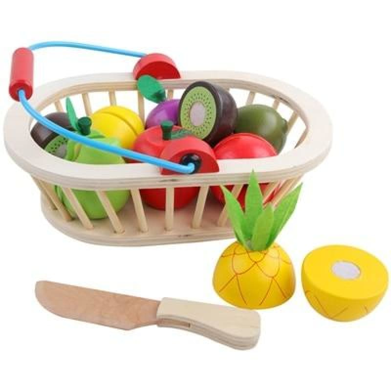 Load image into Gallery viewer, Baby Early Education Wooden Kitchen Toys Cutting Fruit Vegetables Education Food Toys For Kids - My Web Store Shopping
