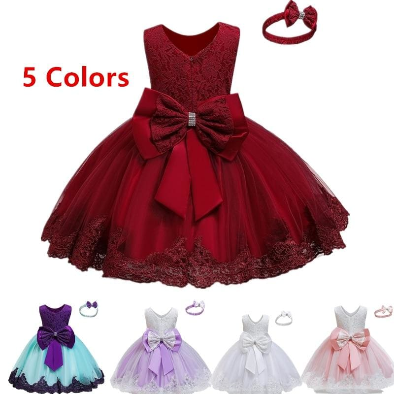 Baby Girl Dress Red Tutu Dress Toddler Baby 1 Year Birthday Party - My Web Store Shopping