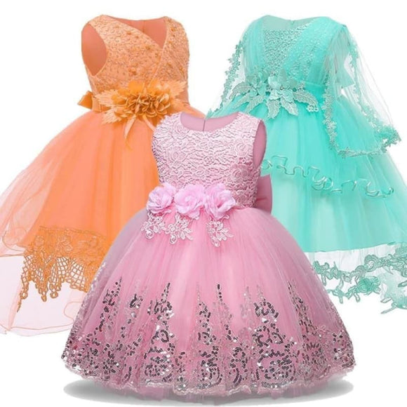 Baby Girl Princess Dresses For Baby Christening Infant Party Dress 1 Year Birthday Dress Wedding - My Web Store Shopping