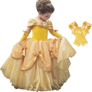 Load image into Gallery viewer, Baby Girls Beauty and the Beast Costume Tulle Kids Princess Belle Party Gown Halloween Birthday - My Web Store Shopping