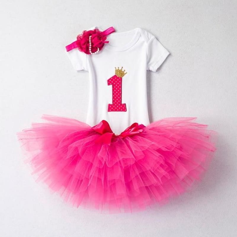 Load image into Gallery viewer, Baby Girls Clothes 1st Birthday Tutu Cake Smash Outfits Sets Newborn Baby Clothes Christening Suits - My Web Store Shopping