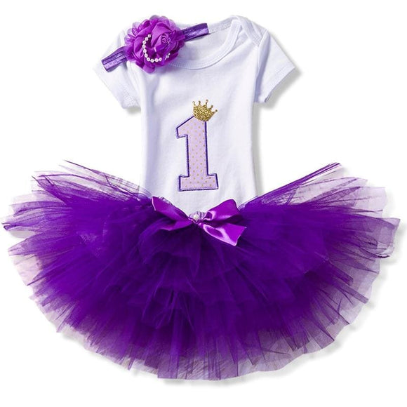 Baby Girls Clothes 1st Birthday Tutu Cake Smash Outfits Sets Newborn Baby Clothes Christening Suits - My Web Store Shopping