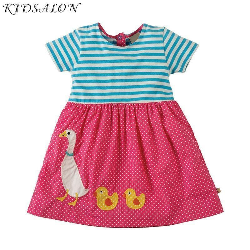 Baby Girls Summer Dress Animal Pattern Kids Party Dresses Children Clothing Vestidos Princess - My Web Store Shopping